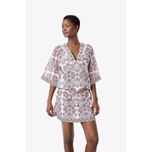 NWT TORY BURCH Silk Floral Garden Tunic Size Small